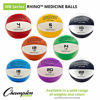 Picture of Champion Sports Exercise Medicine Balls, 6-7 lbs, Leather with No-Slip Grip - Weighted Med Ball Set for Weight Training, Stability, Plyometrics, Cross Training, Core Strength - Heavy Workout Ball