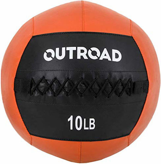 Picture of PanAme 10lbs Wall Ball, Medicine Balls with Soft, Workout Weight Ball, Dead Weight Slam Ball for Fitness Gym Exercise, Orange