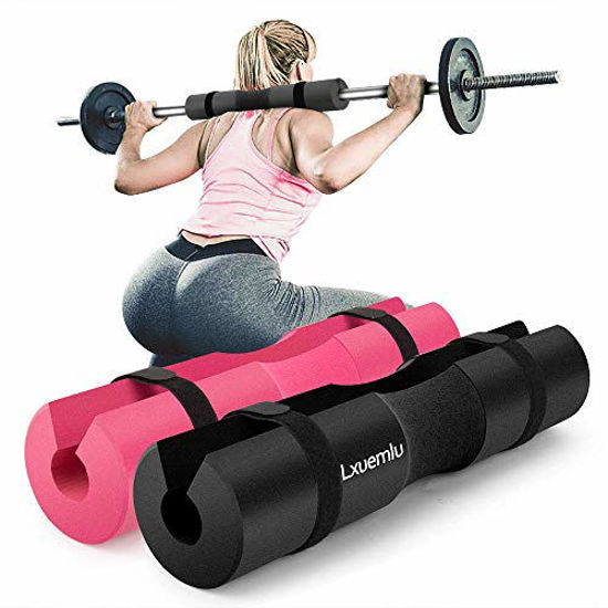 Picture of 【2020 Upgraded】 Squat Pad Barbell Pad for Squats, Lunges, and Hip Thrusts - Foam Sponge Pad - Provides Relief to Neck and Shoulders While Training (Black)