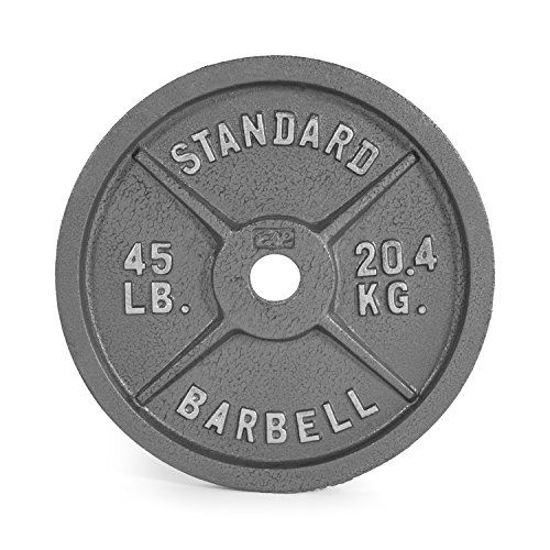 Picture of CAP Barbell 45 lb Gray Olympic Weight Plate, Single