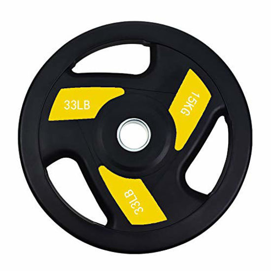 Picture of GOODTRADE8 Bumper Plates Oplympic Weight Plates, Bumper Weight Plates, Steel Insert, Good for Strength Training, Weightlifting, Crossfit,2x2.5KG 2x5KG 2x10KG 1x20KG 1x25KG〔US Shipping〕 (1x15KG)