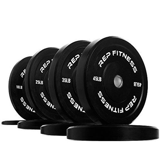 Picture of Rep Bumper Plates for Strength and Conditioning Workouts and Weightlifting 230 lb Set