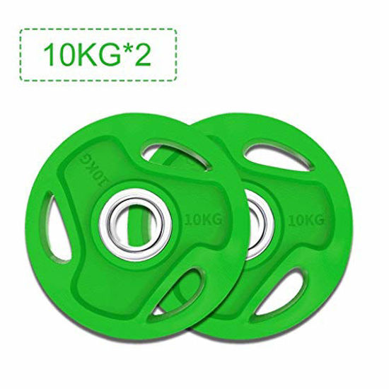 Picture of PIAOLING Gym Color Hand Grip Olympic Rubber Barbell Weight Plates Bumper Plate Set Home Weightlifting Professional (Size : 2.5kg/5.5lb)
