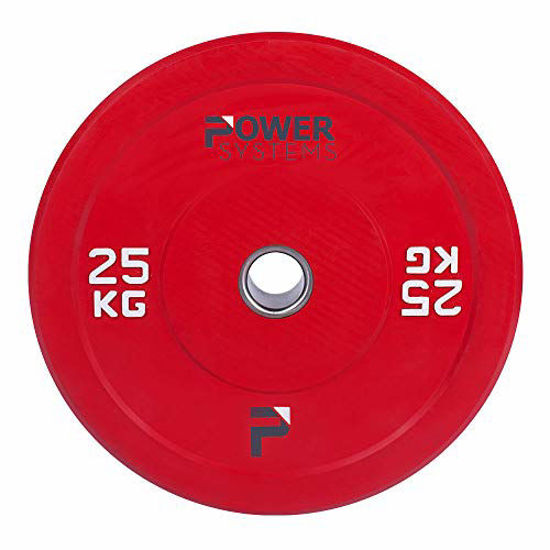 Picture of Power Systems Olympic Bumper Plate, 25 Kilograms, Red (55898)
