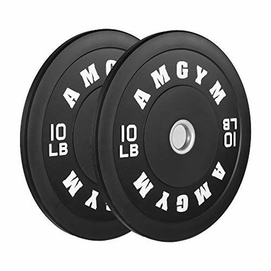 Picture of AMGYM LB Bumper Plates Oplympic Weight Plates, Bumper Weight Plates, Steel Insert, Strength Training, Pair