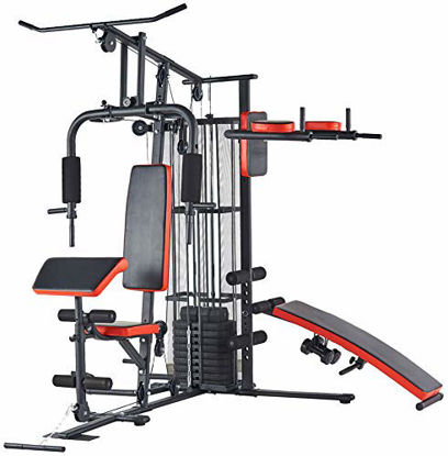 Picture of BalanceFrom RS 90XLS Home Gym System Multiple Purpose Workout Station with 380LB of Resistance, 145LB Weight Stack, Comes with Installation Instruction Video, Black