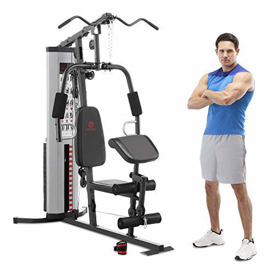Picture of Marcy MWM-988 Multifunction Steel Home Gym 150lb Weight Stack Machine