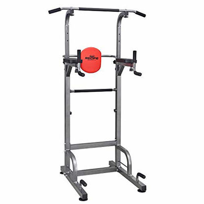 Picture of RELIFE REBUILD YOUR LIFE Power Tower Workout Dip Station for Home Gym Strength Training Fitness Equipment Newer Version