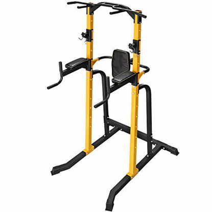 Picture of ZENOVA Power Tower Multi-Function Home Strength Training Tower Dip Stands Pull Up Gym Equipment for Full Body Workout