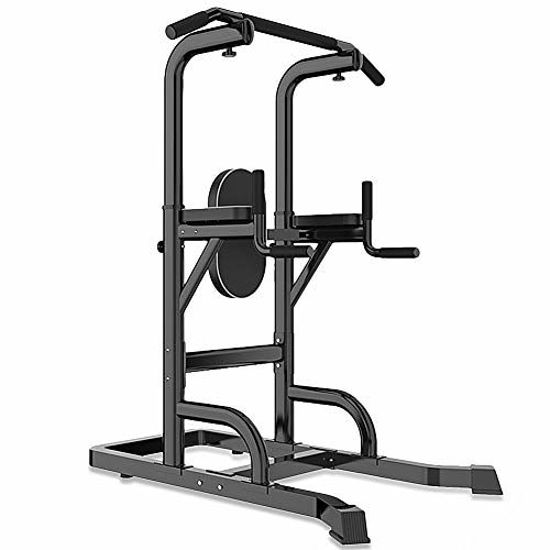 Picture of N-A Power Tower Multi-Function Adjustable Pull Up Bar, Relife Rebuild Your Life Power Tower Workout Dip Station for Home Gym Strength Exercise Equipment