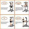 Picture of GREARDEN Power Tower Exercise Equipment Adjustable, Multi-Function Pull up Bar Station, Dip Station Pull up Bar for Home Gym 12 Adjustable Height, 330 LBS