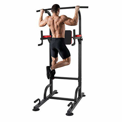 Picture of KAC Power Tower, Adjustable Dip Station, Pull Up Bar for Home Gym Strength Training Workout Equipment