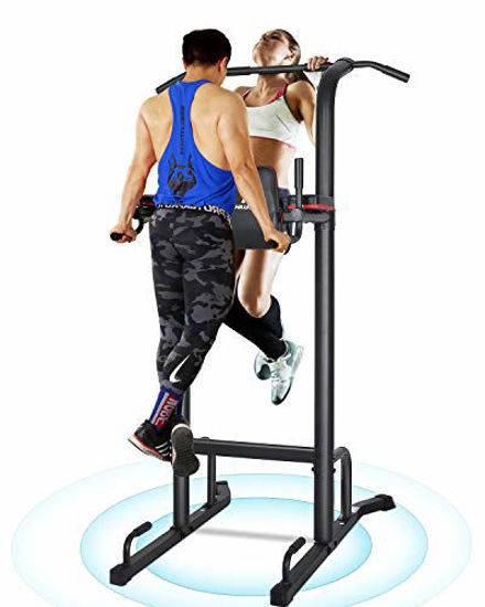 Picture of MaxKare Power Tower Pull Up Dip Station for Home Workout Multi-Function Stable Exercise Fitness Strength Training Equipment