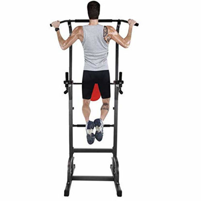 Picture of Power Tower Workout Dip Station for Home Gym Strength Training Fitness Equipment