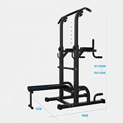 Picture of HLH-Fitness Equipment Durable Relife Rebuild Your Life Power Tower Workout Dip Station for Home Relife Rebuild Your Life Non-Slip (Color : Blue, Size : 67100195CM)