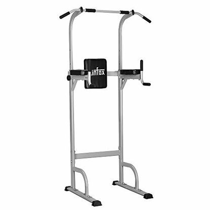 Picture of Ainfox Power Tower, Capacity 550 Lbs Pull Up Bar Tower Dip Stands Fitness Gym Office
