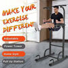 Picture of Dip Station Chin Up Bar Core Power Tower Pull Push Up,Parallel Bars, Arm Support, Swivel Waist Twist, Ring Pull Chest Etc , for Home Use Gym Exercise Sport Sports&Outdoors Fitness&Bodybuilding (Black)