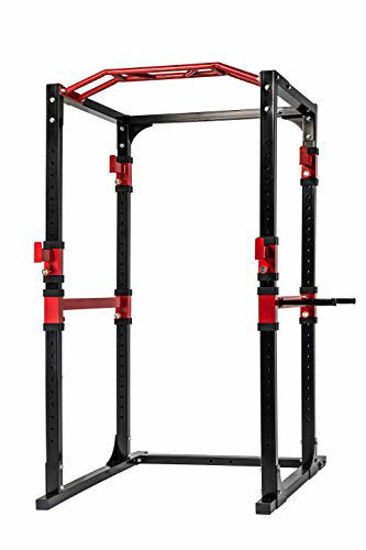 Picture of POWERT Power Rack Cage Heavy Duty for Barbell Crossfit & Weightlifting Fitness Trainining—1600 lb Capacity