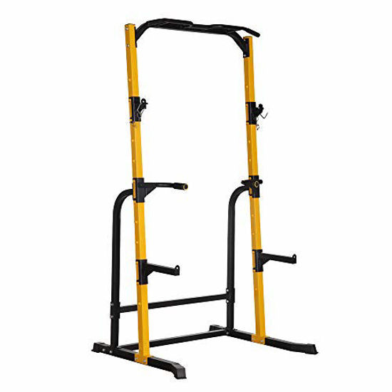 Picture of ZENOVA Power Rack Adjustable Squat Stand with J-Hooks, Gym Fitness Power Tower Squat Rack, 800LBS Weight Capacity