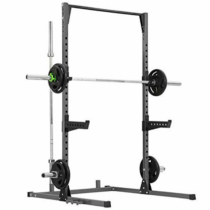 Picture of Kicode Power Cage, Heavy Duty Power Rack with Adjustable Pull Up Bar, Power Weightlifting Station, Multifunction Squat Rack, Home Gym Strength Training System