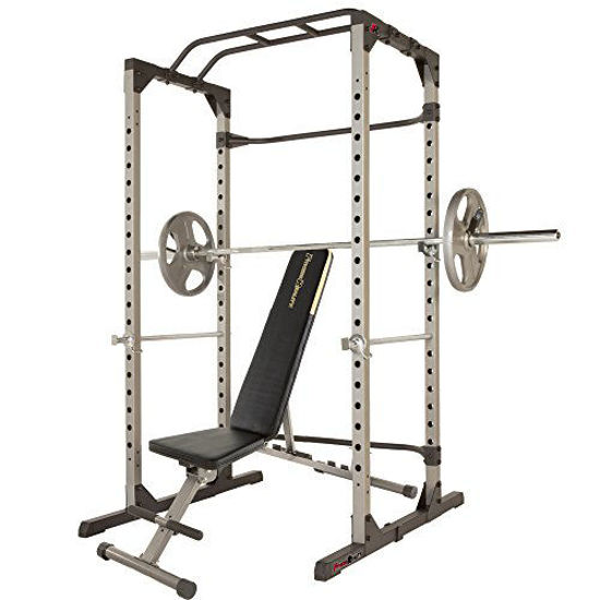 Picture of Fitness Reality 810XLT Super Max Power Cage with The 800 lb Capacity Super Max 1000 Weight Bench Combo