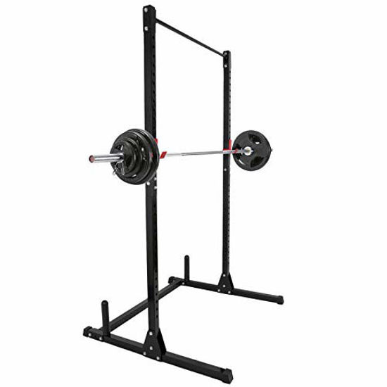 Picture of JungleA Power Cage Power Exercise Squat Rack Height Adjustable Strength Training Workout Station,550 lbs Rated Lifting Cage with J-Hooks