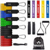 Picture of Whatafit Resistance Bands Set (16pcs), Exercise Bands with Door Anchor, Handles,Waterproof Carry Bag, Legs Ankle Straps for Resistance Training, Physical Therapy, Home Workouts (Set3)