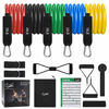 Picture of Recredo Resistance Bands Set 13pcs, Workout Bands, Exercise Bands Set with Door Anchor, Handles and Ankle Straps, Stackable Up to 150 lbs, for Resistance Training, Physical Therapy, Home Workouts