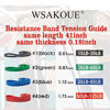 Picture of WSAKOUE Pull Up Bands, Resistance Bands, Pull Up Assist Band Exercise Resistance Bands for Body Stretching, Powerlifting, Resistance Training (Set-4)