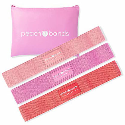 Picture of PEACH BANDS Hip Band Set - Fabric Resistance Bands - Exercise Bands for Leg and Butt Workouts
