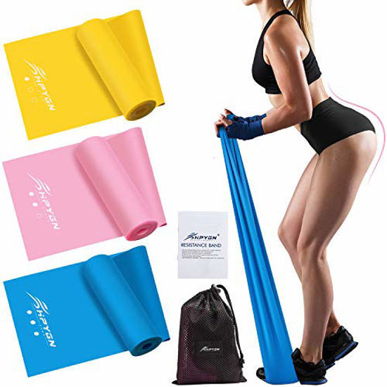 Picture of HPYGN Resistance Bands Set, Exercise Bands for Physical Therapy, Strength Training, Yoga, Pilates, Stretching, Non-Latex Elastic Band With Different Strengths,Workout Bands for Home