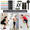 Picture of CHAREADA 23 Pack Resistance Bands Set Workout Bands, 5 Stackable Exercise Bands 5 Loop Resistance Bands 2 Core Sliders – Door Anchor Handles Ankle Straps Carry Bag Instant Cooling Towel Wrist Wraps