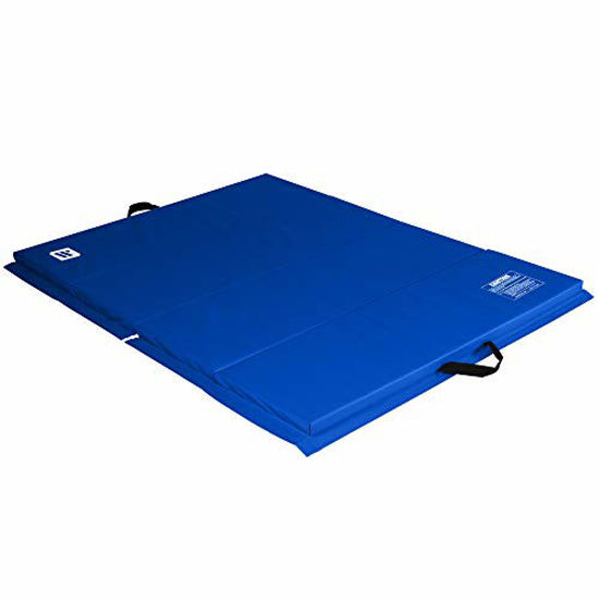 Picture of We Sell Mats 4 ft x 6 ft x 2 in Personal Fitness & Exercise Mat, Lightweight and Folds for Carrying, Blue