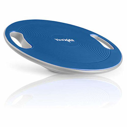 Picture of Yes4All Wobble Balance Board – Exercise Balance Stability Trainer for Physical Therapy, Standing Desk (Classic Blue) (NEWX)