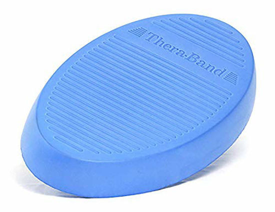 Picture of TheraBand Stability Trainer Pad, Intermediate Level Blue Foam Pad, Balance Trainer & Wobble Cushion for Balance & Core Strengthening, Rehabilitation, & Physical Therapy, Round Sport Balance Trainer