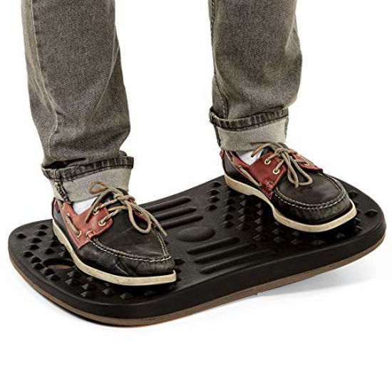 """Picture of Seville Classics airLIFT 20"""" Standing Desk Wobble Board Balance Ergonomic Non-Slip Anti Fatigue Pad, Black"""