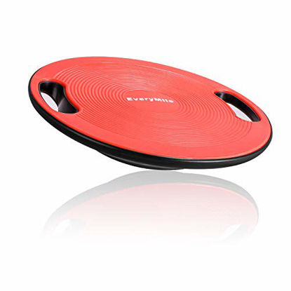 """Picture of EveryMile Wobble Balance Board, Exercise Balance Stability Trainer Portable Balance Board with Handle for Workout Core Trainer Physical Therapy & Gym 15.7"""" Diameter No-Skid Surface"""