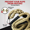 Picture of Easy-Install Manila Hemp Gym Climbing Rope w/ Bracket & Carabiner for Indoor & Outdoor Crossfit Exercise, Home Training and Fitness Workouts (1.5 in Thickness & 15/20/25 ft Length Available) (15.00)
