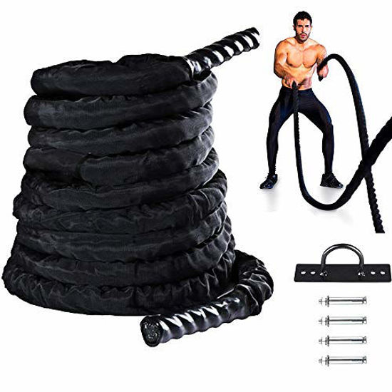 Picture of Lilypelle Battle Rope, 30ft Length Heavy Battle Exercise Training Rope for Strength Training, Cardio Workout, Crossfit, Fitness Exercise