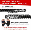 Picture of AUTUWT Heavy Jump Rope Skipping Rope Workout Battle Ropes with Gloves for Men Women Total Body Workouts Power Training Improve Strength Building Muscle