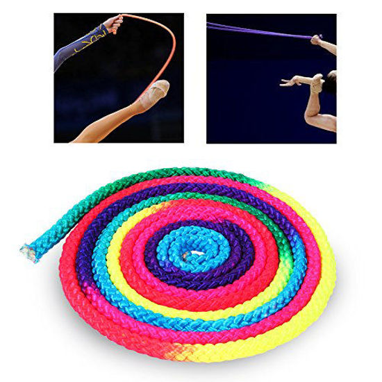 Picture of Estink Gymnastics Rope, Rainbow Color Rhythmic Gymnastics Rope Solid Competition Arts Competition Rope Nylon Jumping Training Rope