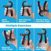 Picture of Grip Strength Trainer, Adjustable Hand Grip Strengthener, Forearm Exerciser, Finger Strengthener Trainer (11 to 132 LB), Wrist Forearm Grip Workout   Home Gym Exercise Equipment, Workout Gear For Home