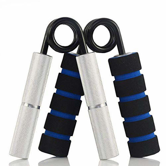 Picture of YZLSPORTS Hand Grip and Wrist Strengthener - Resistance from 50-350 lb Metal Exerciser for Hand, Forearm, and Fingers,Silver Stainless Steel (50 LB, Silver)