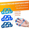 Picture of IMENSEAS Hand Grip Strengthener 7 Pack Adjustable Hand Gripper, Finger Stretcher Resistance Extensor Bands, Finger Exerciser, Grip Strength Ring & Stress Relief Ball for Athletes & Musicians - Blue