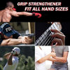 Picture of Hand Grip Strengthener Workout Kit (6 Pack), Forearm Grip Adjustable Electronic Counting, Resistance Strength Trainer, Grip Ring Finger Stretcher Finger Exerciser Grip Ball for Athletes
