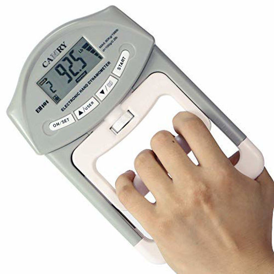 Picture of CAMRY Digital Hand Dynamometer Grip Strength Measurement Meter Auto Capturing Electronic Hand Grip Power 198 Lbs / 90 Kgs