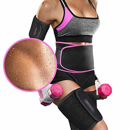 Picture of Perfotek Waist Trimmer Belt, Slimmer Kit, Weight Loss Wrap, Stomach Fat Burner, Low Back and Lumbar Support with Sauna Suit Effect, Best Abdominal Trainer, Slimmer Kit, Black