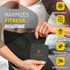 Picture of Perfotek Waist Trimmer Belt, Sweat Wrap, Tummy Toner, Low Back and Lumbar Support with Sauna Suit Effect, Best Abdominal Trainer (Trimmer Belt - Black)