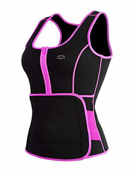 Picture of ALONG FIT Waist Trainer Sweat Sauna Vest for Women Waist Trainer Corset Fitness Weight Loss Neoprene Body Shaper