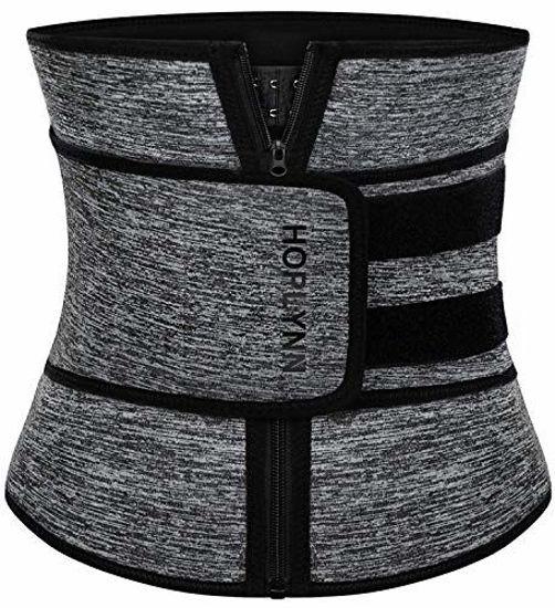 Picture of HOPLYNN Neoprene Sweat Waist Trainer Corset Trimmer Belt for Women Weight Loss, Waist Cincher Shaper Slimmer Grey X-Large